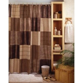 Animal Print Faux Suede Fabric Shower Curtain
